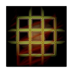 Drawing Of A Color Fractal Window Tile Coasters
