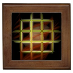 Drawing Of A Color Fractal Window Framed Tiles