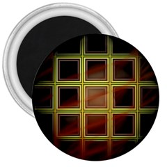 Drawing Of A Color Fractal Window 3  Magnets