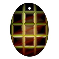 Drawing Of A Color Fractal Window Ornament (oval)
