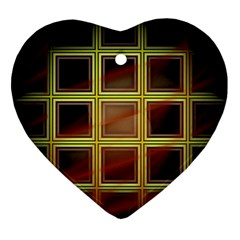 Drawing Of A Color Fractal Window Ornament (Heart)
