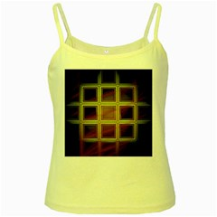Drawing Of A Color Fractal Window Yellow Spaghetti Tank