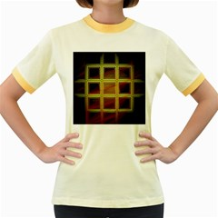 Drawing Of A Color Fractal Window Women s Fitted Ringer T Shirts