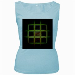 Drawing Of A Color Fractal Window Women s Baby Blue Tank Top