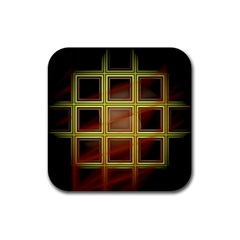 Drawing Of A Color Fractal Window Rubber Square Coaster (4 Pack)