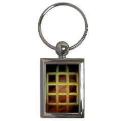 Drawing Of A Color Fractal Window Key Chains (rectangle)