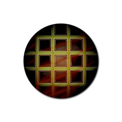 Drawing Of A Color Fractal Window Rubber Round Coaster (4 Pack)