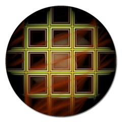 Drawing Of A Color Fractal Window Magnet 5  (round)