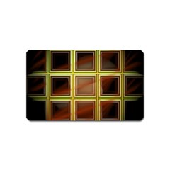 Drawing Of A Color Fractal Window Magnet (name Card)