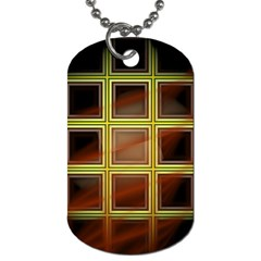 Drawing Of A Color Fractal Window Dog Tag (One Side)