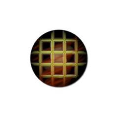 Drawing Of A Color Fractal Window Golf Ball Marker (10 Pack)