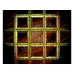 Drawing Of A Color Fractal Window Rectangular Jigsaw Puzzl
