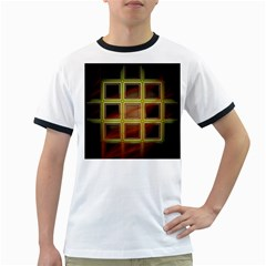 Drawing Of A Color Fractal Window Ringer T Shirts