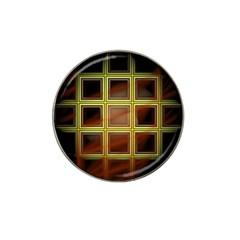 Drawing Of A Color Fractal Window Hat Clip Ball Marker (10 Pack)