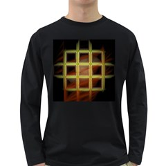 Drawing Of A Color Fractal Window Long Sleeve Dark T Shirts