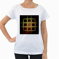 Drawing Of A Color Fractal Window Women s Loose Fit T Shirt (white)