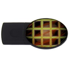 Drawing Of A Color Fractal Window Usb Flash Drive Oval (4 Gb)