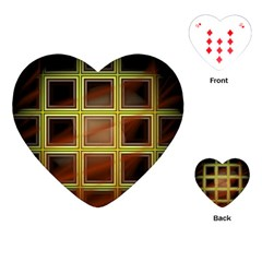 Drawing Of A Color Fractal Window Playing Cards (heart)