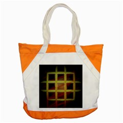 Drawing Of A Color Fractal Window Accent Tote Bag