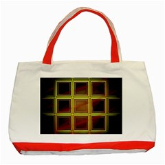 Drawing Of A Color Fractal Window Classic Tote Bag (Red)