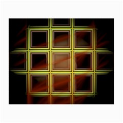 Drawing Of A Color Fractal Window Small Glasses Cloth (2 Side)