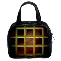 Drawing Of A Color Fractal Window Classic Handbags (2 Sides)