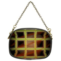 Drawing Of A Color Fractal Window Chain Purses (One Side)