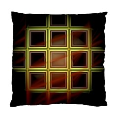 Drawing Of A Color Fractal Window Standard Cushion Case (one Side)