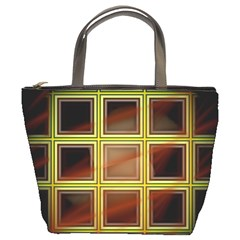 Drawing Of A Color Fractal Window Bucket Bags