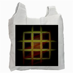 Drawing Of A Color Fractal Window Recycle Bag (two Side)