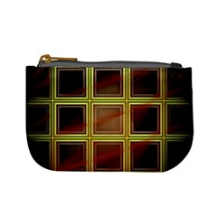 Drawing Of A Color Fractal Window Mini Coin Purses