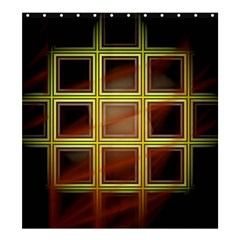 Drawing Of A Color Fractal Window Shower Curtain 66  X 72  (large)
