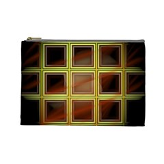 Drawing Of A Color Fractal Window Cosmetic Bag (Large)