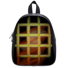 Drawing Of A Color Fractal Window School Bags (small)
