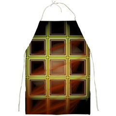 Drawing Of A Color Fractal Window Full Print Aprons