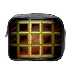 Drawing Of A Color Fractal Window Mini Toiletries Bag 2-Side