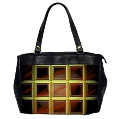 Drawing Of A Color Fractal Window Office Handbags (2 Sides)