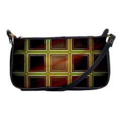 Drawing Of A Color Fractal Window Shoulder Clutch Bags