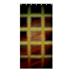 Drawing Of A Color Fractal Window Shower Curtain 36  X 72  (stall)
