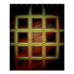 Drawing Of A Color Fractal Window Shower Curtain 60  X 72  (medium)