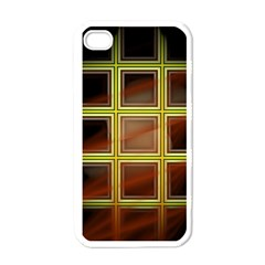 Drawing Of A Color Fractal Window Apple iPhone 4 Case (White)
