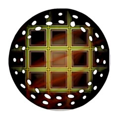 Drawing Of A Color Fractal Window Ornament (round Filigree)