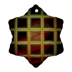 Drawing Of A Color Fractal Window Ornament (snowflake)