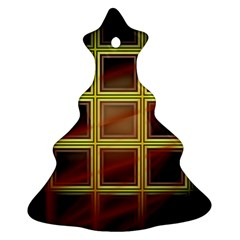 Drawing Of A Color Fractal Window Christmas Tree Ornament (two Sides)