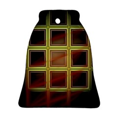 Drawing Of A Color Fractal Window Bell Ornament (two Sides)