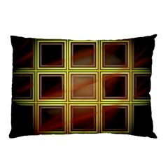 Drawing Of A Color Fractal Window Pillow Case (Two Sides)