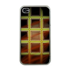 Drawing Of A Color Fractal Window Apple iPhone 4 Case (Clear)