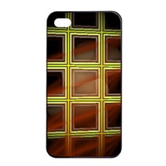 Drawing Of A Color Fractal Window Apple Iphone 4/4s Seamless Case (black)