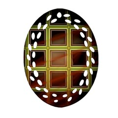 Drawing Of A Color Fractal Window Ornament (oval Filigree)