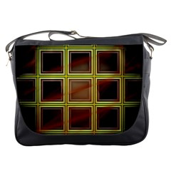 Drawing Of A Color Fractal Window Messenger Bags
